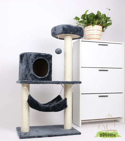 Nature Sisal Paw Print Cat Tree - DDhouse Singapore Online Pet Supplies and Pet Products - 1