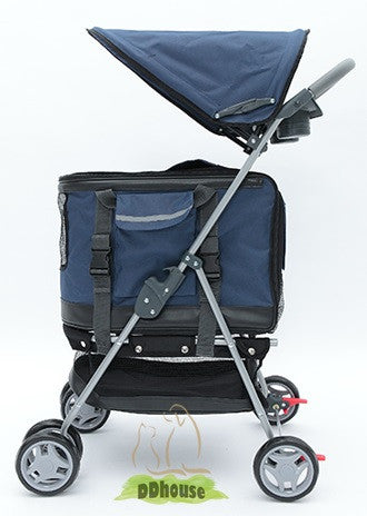 Multi Functional Navy Blue 3 in 1 Pet Prams
