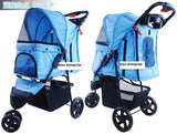 3 Wheel Pet Pram Pet Stroller - DDhouse Singapore Online Pet Supplies and Pet Products - 8
