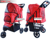 3 Wheel Pet Pram Pet Stroller - DDhouse Singapore Online Pet Supplies and Pet Products - 7