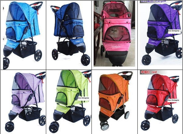 Multi Color 3 Wheel Pet Stroller
