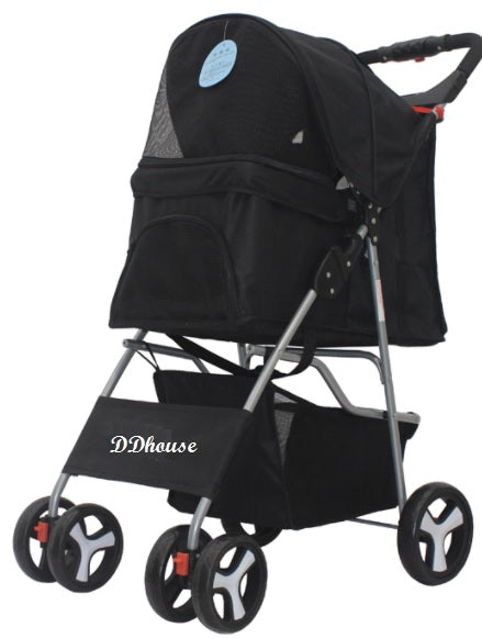 Black Knight 4 Rims Pet-Pram Carriage Rider