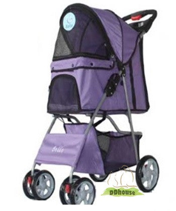 Purple Pillowed Pram 4 Pet Vehicle