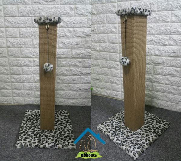 80cm Sisal Mat Scratch Post For Cats