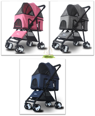 4 Wheel 3-In-1 Detachable Pet Carrier & Stroller