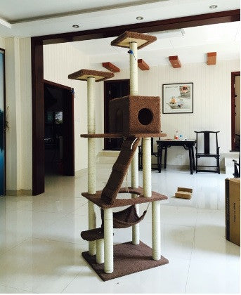 Unique 1.85m Tall Towering Cat Furniture