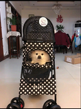 Polka Dot Black 4 Wheel Pet Stroller - DDhouse Singapore Online Pet Supplies and Pet Products - 2