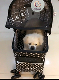 Polka Dot Black 4 Wheel Pet Stroller - DDhouse Singapore Online Pet Supplies and Pet Products - 3