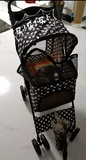 Polka Dot Black 4 Wheel Pet Stroller - DDhouse Singapore Online Pet Supplies and Pet Products - 4