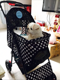 Polka Dot Black 4 Wheel Pet Stroller - DDhouse Singapore Online Pet Supplies and Pet Products - 5