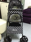 Polka Dot Black 4 Wheel Pet Stroller - DDhouse Singapore Online Pet Supplies and Pet Products - 7