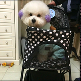 Polka Dot Black 4 Wheel Pet Stroller - DDhouse Singapore Online Pet Supplies and Pet Products - 8