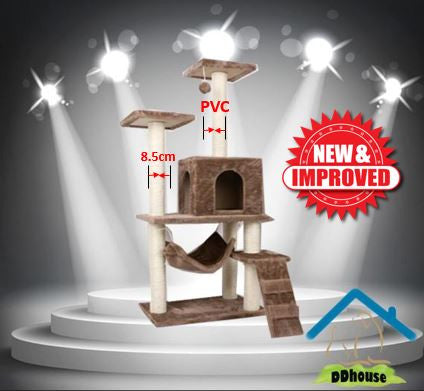Tawny Colored Cozy PVC Cat Tree