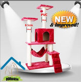 PVC Scratching Pole Cat Climbers Cat Trees Extra Thickness 8.5cm Sisal Rope Singapore Scratch Pole