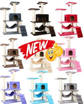 Classic Design Good Quality PVC Pole Cat Condos Multiple Colors