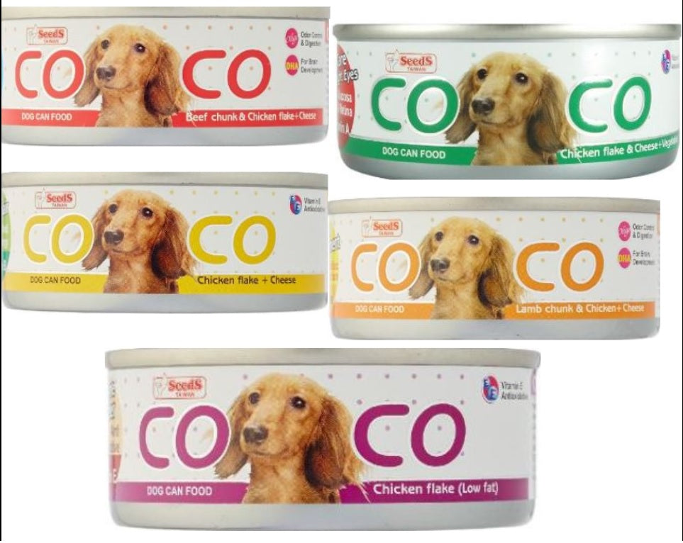11 Cans X COCO Dog Wet Food 80g