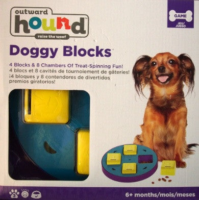 Outward Hound Doggy Block Spinner Dog Toy