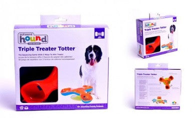 Outward Hound Kyjen Triple Treat Totter Dog Toy