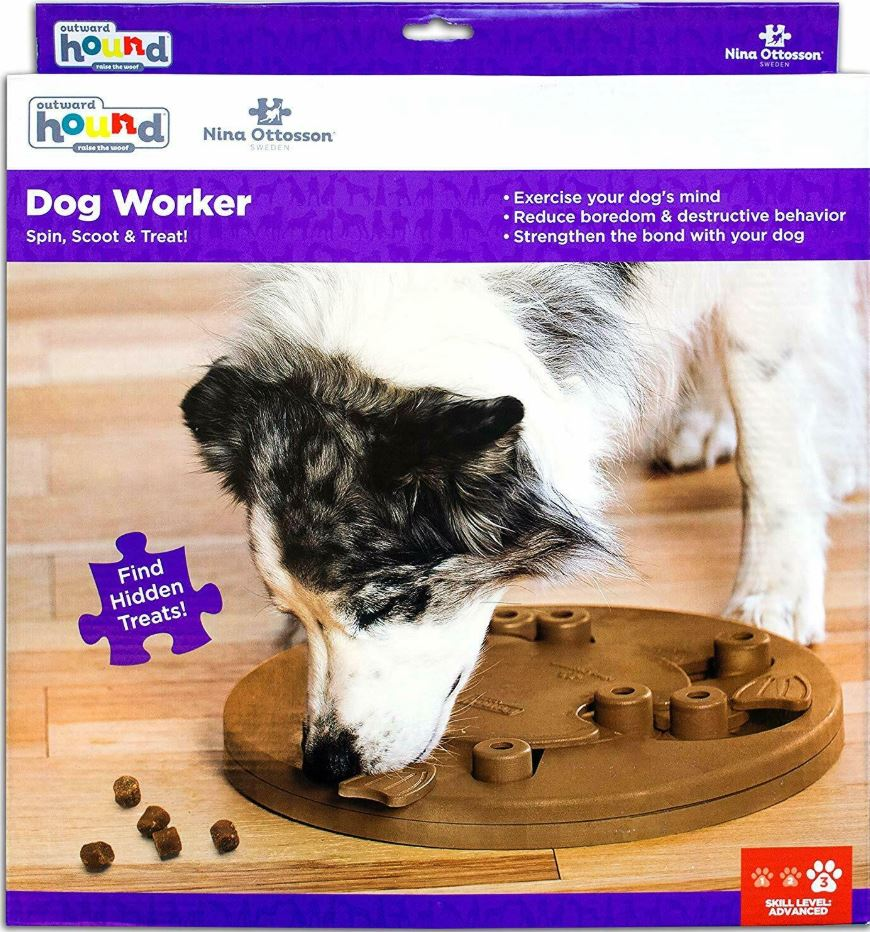 Dog Worker Interactive IQ game Outward Hound Dog Puzzle Dog Game Slow Feeding Toy