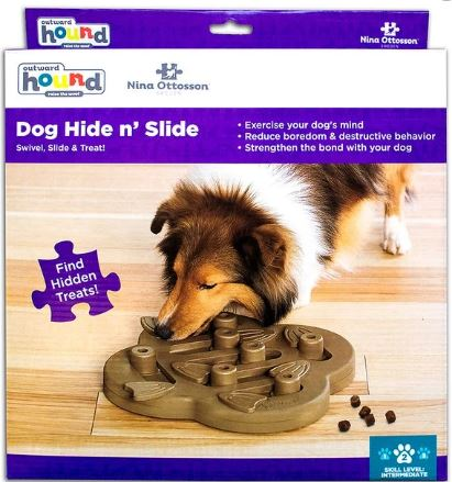 Dog Hide N Slide Interactive IQ game Outward Hound Dog Puzzle Dog Game