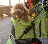 Green Polka Dot Pet Stroller Singapore