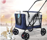 Low Raise Platform Large Space Pet Pram Pet Strollers Singapore