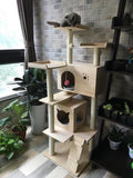 Solid Wood Triple Top Cat Condos - DDhouse Singapore Online Pet Supplies and Pet Products - 11