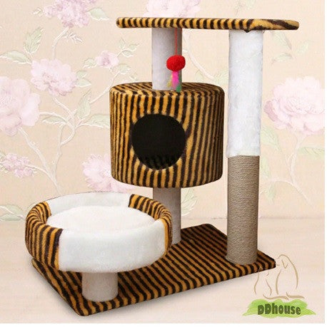 Tiger stripe cat tree medium size ddhouse singapore online pet supplies