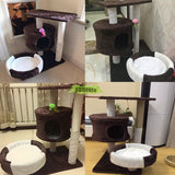 medium size coffee white cat tree cat house