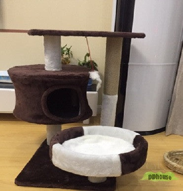 Coffee -White M Size Cat Play Tree