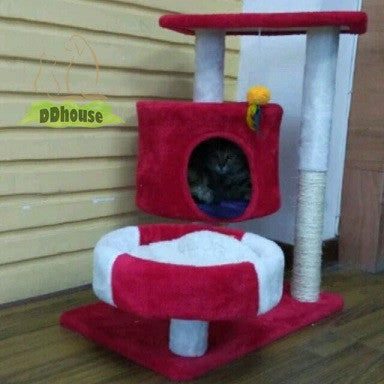 Red White M Size Cat Post
