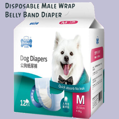 M Size Male Dog Diapers Belly Band Waist Wrap Singapore