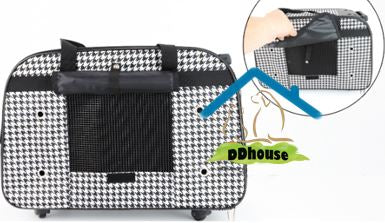 Rolling Pet Carrier with Wheels and Handles
