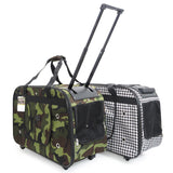 Wheeled large Pet Carrier Bags with wheels pull along pet carrier pet strollers pet bag