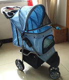 Polka Dot Blue 3 wheel Pet Pram Pet Stroller - DDhouse Singapore Online Pet Supplies and Pet Products - 8