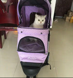 Polka Dot Purple 3 Wheel Pet Pram Pet Stroller - DDhouse Singapore Online Pet Supplies and Pet Products - 12