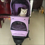Polka Dot Purple 3 Wheel Pet Pram Pet Stroller - DDhouse Singapore Online Pet Supplies and Pet Products - 6