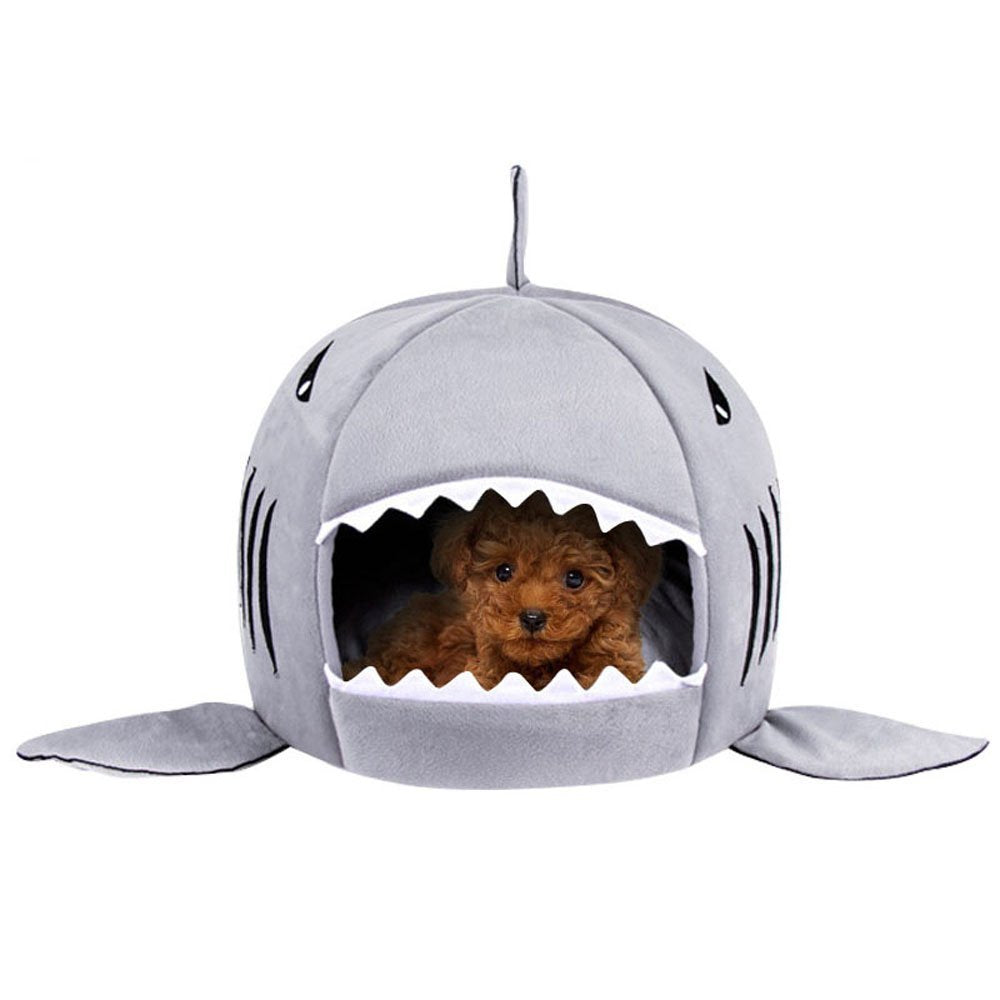 Copy of Shark Pet House with Removable Bed Cushion Mat for Dogs and Cats