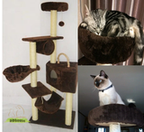 Tall Cat Scratching Post with Big Triangle House
