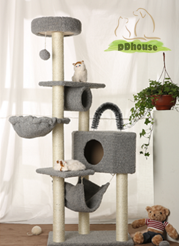 Multi Color 5 Tier Modern Cat Tree Big Cat Resting House Ddhouse