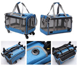 Pet Trolley stroller with removable wheels Foldable Sling Bag Pet Carrier
