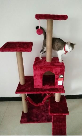 Bright Red Premium Cat Tree PVC Upgrade Extra Thickness