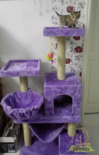 Pastel Lavender Cat Terrace With Round Hammock Ddhouse