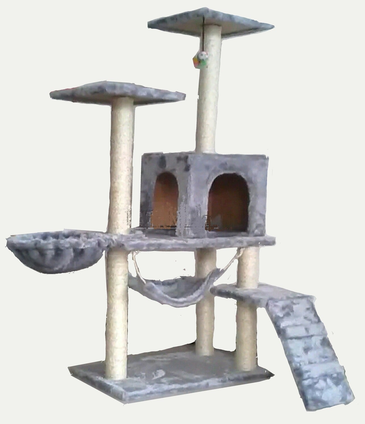 Cat Condo Cat Tree W/ Hammock Bowl   DDhouse Singapore Online Pet Supplies  And Pet