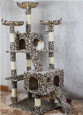 Extreme Tall Leopard Cat Tower Cat Condos