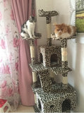 Extreme Tall Leopard Cat Tower Cat Condos - DDhouse Singapore Online Pet Supplies and Pet Products - 7