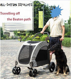 Low Entry Door Extra Large Dog Wagon Dog Strollers Dog Prams SIngapore
