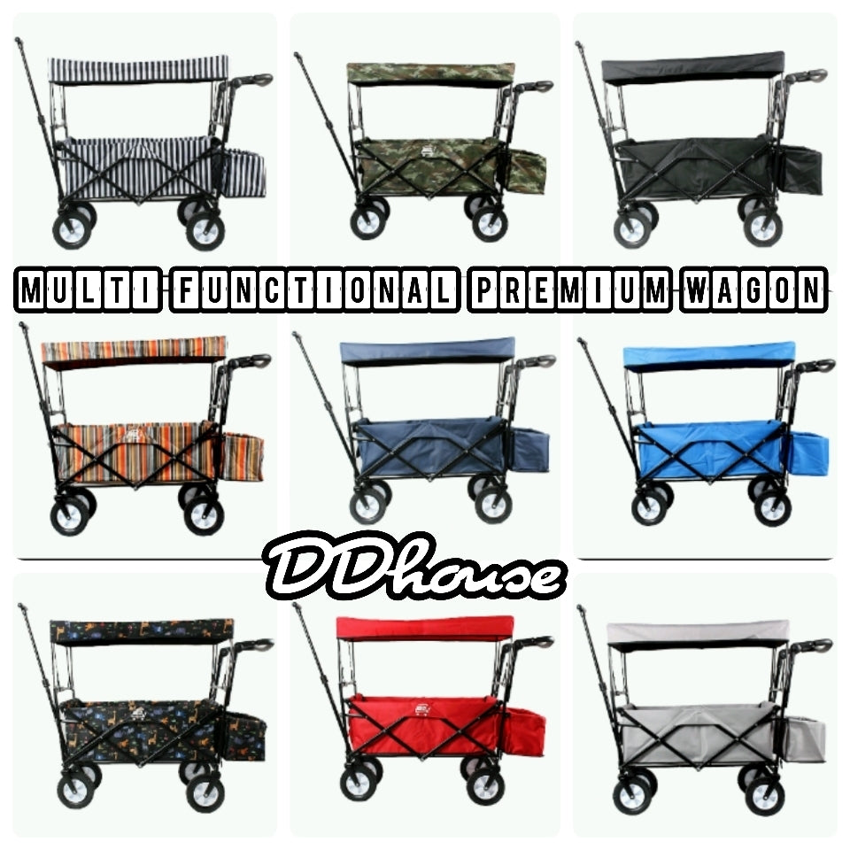 Premium Foldable Wagon with canopy for Dogs