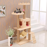 Wooden Cat Tree Tower - DDhouse Singapore Online Pet Supplies and Pet Products - 3