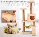 Wooden Cat Tree Tower - DDhouse Singapore Online Pet Supplies and Pet Products - 1